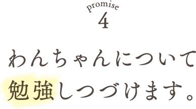 Promise4 わんちゃんについて勉強しつづけます。